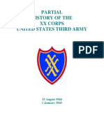 Partial History of the XX Corps United States Third Army
