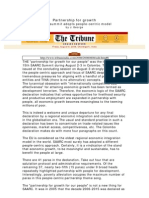 SAARC Tribune 08Aug08 Partnership for Growth