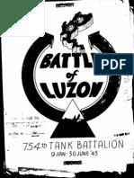 Battle of Luzon, 754th Tank Bn 9 Jan 45 - 30 Jun 45