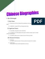 chinese biographies