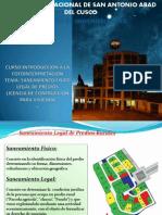 Saneamiento Fisico Lega, Licencia de Cosntruccion