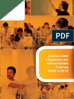 Analise Expansao Universidade Federais 2003 2012