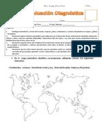 Evaluación Diagnóstica  4° HISTORIA Y GEOGRAFÍA