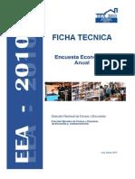 Ficha Tecnica Encuesta Economica Anual 2010