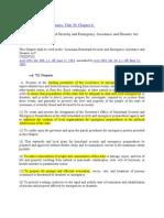 LA Emergecy Act