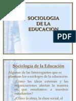 Sociologia de La Educ. 1a Clase