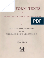 Cuneiform Texts in the Metropolitan Museum of Art Volume I Tablets Cones and Bricks of the Third
