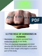 3.3 Hormones