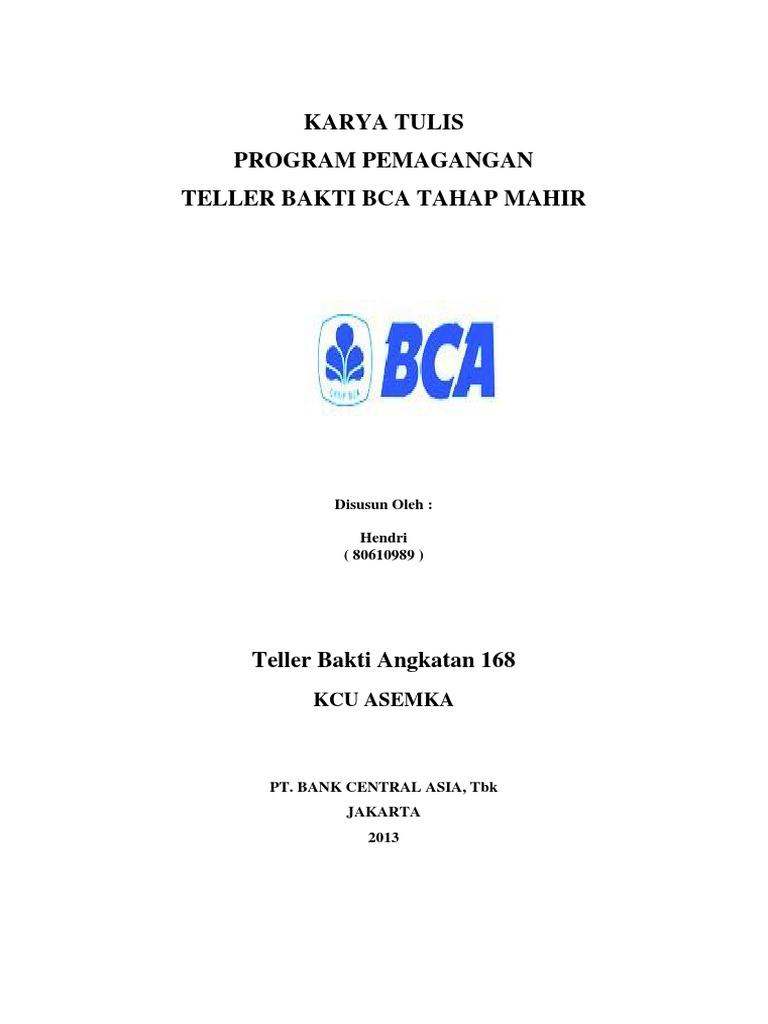 Karya Tulis Bca