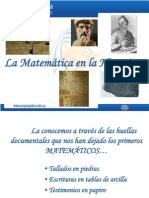 Matemática- Historia de Sus Orígenes