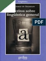 De Saussure Ferdinand - Escritos sobre Lingüística General.pdf