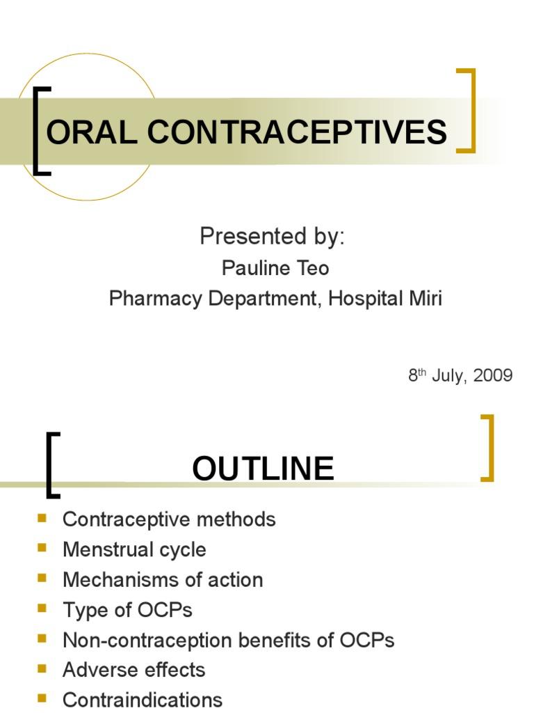 Oral Contraceptives Combined Oral Contraceptive Pill Birth Control
