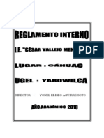 Reglamento Interno 2011