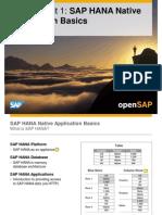 OpenSAP HANA1-1 Week 01 Developing Applications for SAP HANA