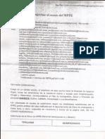 Condiciones para aprobar exceso en el HCM del MPPE