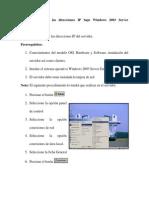 01 Como Configuraria Las Direcciones Ip Bajo Windows 2003 Se