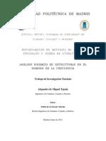 Análisis Dinámico de Estrcuturas en El Dominio de La Frecuencia Por Alejandro de Miguel Tejada