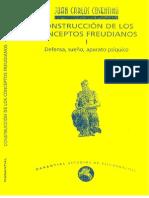 Construcción de los conceptos freudianos I. Defensa, sueño, aparato psíquico. Juan Carlos Cosentino