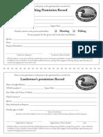 Landowners Permission Form