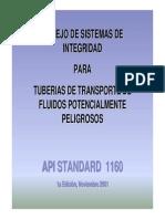 Presentación API 1160