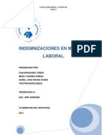 12- Indemnizaciones en Materia Laboral