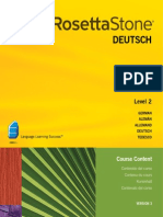 Rosetta Stone V.3 German L2 Course Contents