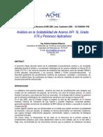 Análisis en La Soldabilidad de Aceros API5L-X70