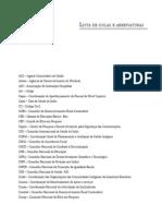 Lista de Siglas e Abreviaturas