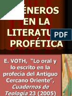 G-neros en La Literatura Prof-tica 2011