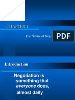 CHAPTER 1 Nature of Negotiation