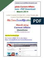 Mar 2014- Monthly PDF Www.currentaffairs4examz