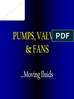 Pumps, Valves & Fans