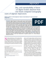 Validity, reliability, and reproducibility of linear measurements on digital models obtained from intraoral and cone-beam computed tomography scans of alginate impressions