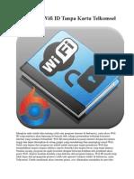 Cara Hack Wifi ID Tanpa Kartu Telkomsel