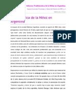 Problemática de La Niñez en Argentina