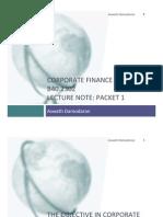 Corporate Finance - Damodaran 1