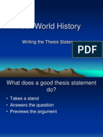 AP World History Thesis Statement