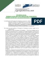 Modificacion Del Documento Del Condominio