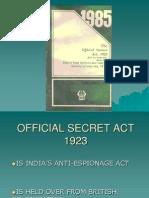 Official Secret Act 1923