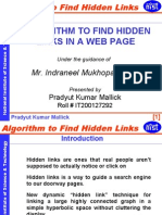 Algorithm to Find Hidden Links in a Web Page