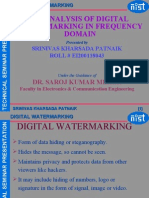 An Analysis of Digital Watermarking in Frequency Domain