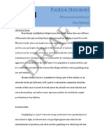 Position Paper on Dog Fighting