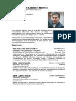 CV Daniel Martin Escalante Romero