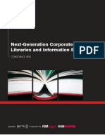 Next-Gen Corporate Libraries and Information Services Summary