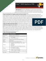 Symantec Backup Exec 3600 Appliance Customer FAQ