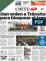 Periódico Norte de Ciudad Juárez edición impresa del 24 abril del 2014