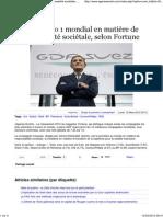 2012-03-12_GDF Suez No 1 Mondial en Matiere de Responsabilite Societale Selon Fortune - Agence Ecofin