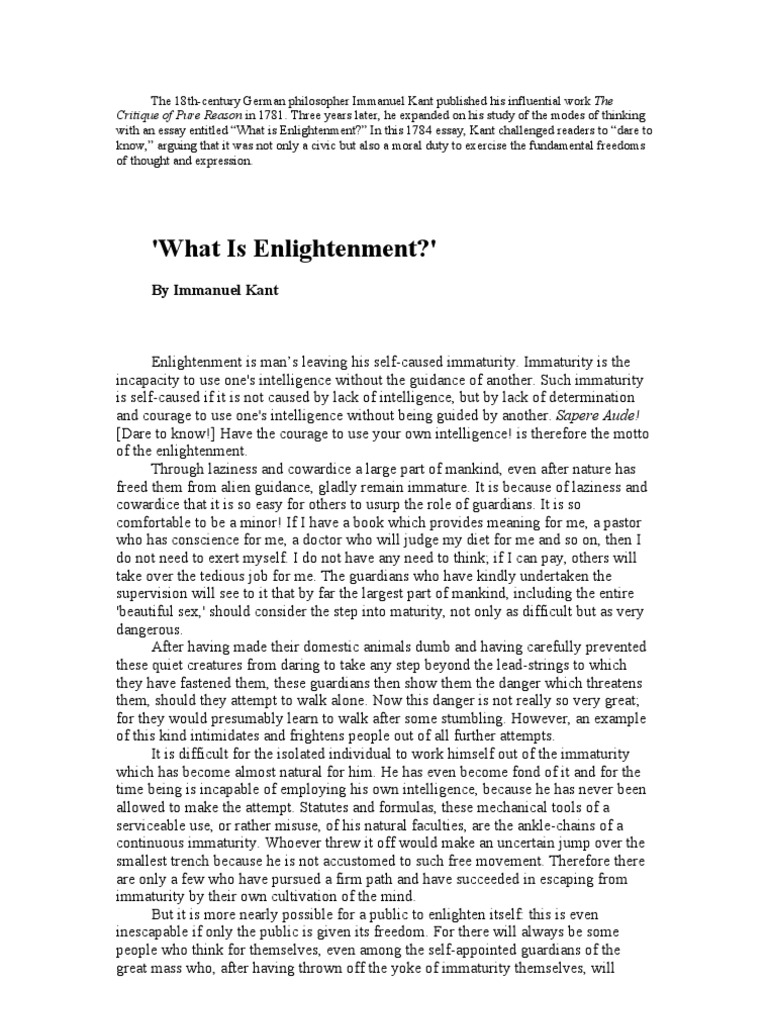 immanuel kant and the enlightenment