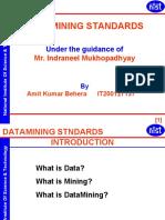 Data Mining Standards