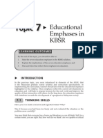 Topic7EducationalEmphasesinKBSR